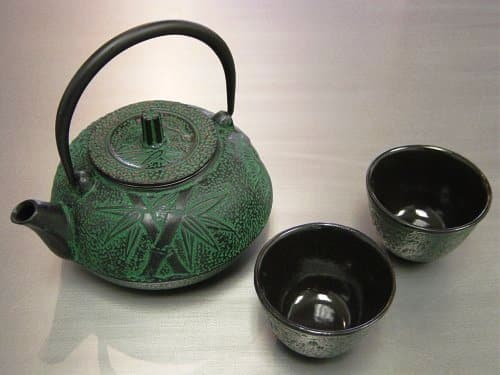 Green Bamboo Tea Set