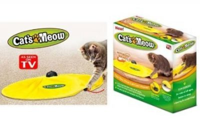 Cats Meow Yellow Undercover Fabric Moving Mouse - Cat Lover Gifts