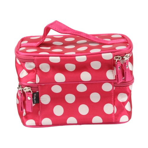 niceEshop Unique Dots Pattern Double Layer Cosmetic Bag - 5 Gift Ideas for Her Under $5