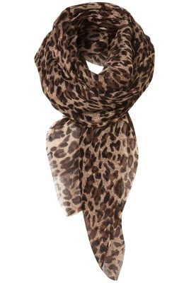 Pashmina Animal Print Fringed Shoulder Wrap Scarf - 5 Gift Ideas for Her Under $5