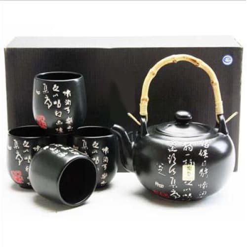 Japanese Calligraphy Porcelain Tea Set