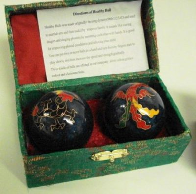 Chinese Cloisonne Health Balls
