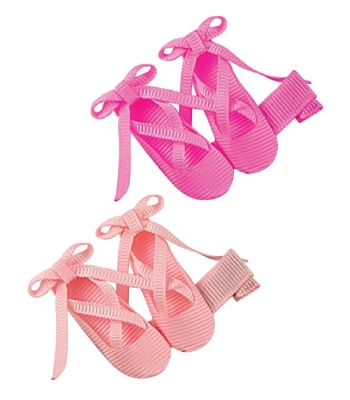 ballet shoes hair clips | dance recital gifts for kids