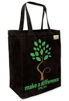 Cotton Canvas Ecofriendly Tote Bag - Black