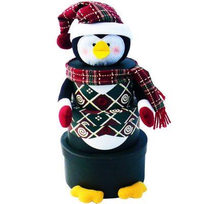 Santa, Snowman or Penguin Christmas Holiday Gift Towers