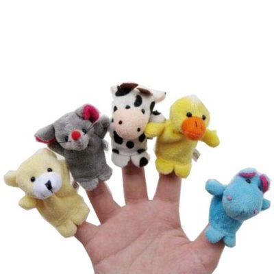 Velvet Animal Style Finger Puppets Set
