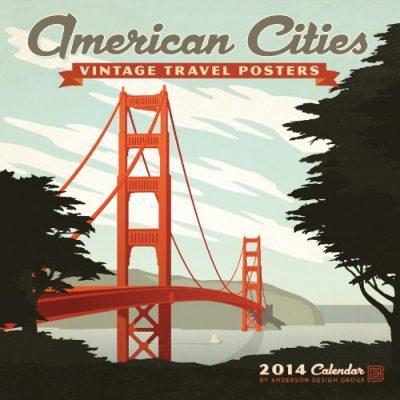 2014 American Cities - Vintage Posters Wall Calendar