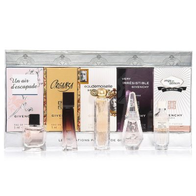 Givenchy Les Creations Parfums De Givenchy Perfume Women Giftset (Ange Ou Demon Le Secret Eau De Parfum Splash, Un Air D'Escapade Eau De Toilette Splash, Very Irresistible L'Intense Eau De Parfum Splash)