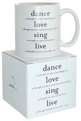 Quotable Dance, Love, Sing Mug