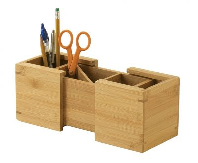 Lipper International Bamboo Expandable Pencil Holder