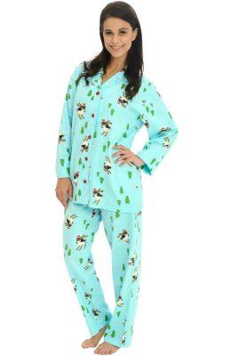 Del Rossa Women's 100% Cotton Flannel Pj Set - Long Pajamas