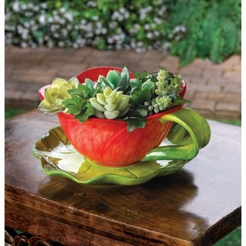 Water Lily Pad Flower Herb Pot Planter - Gifts for mom