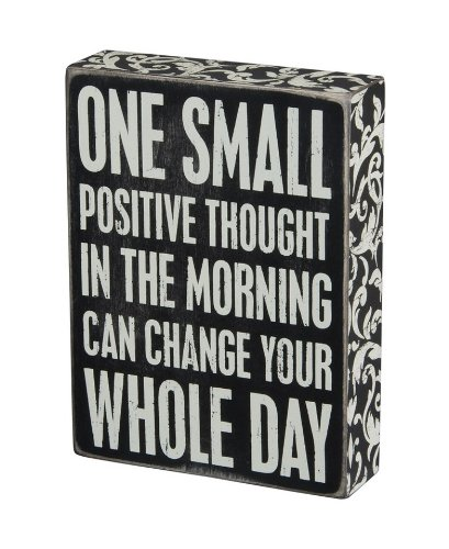 Positive Thought Box Sign by Primitives by Kathy