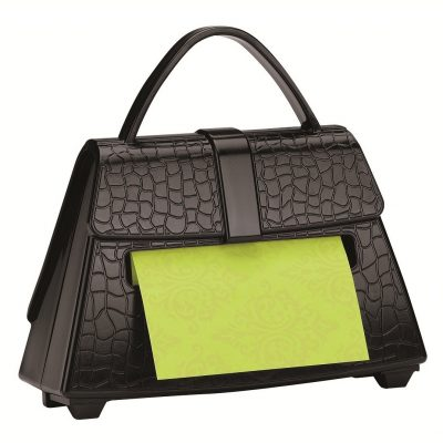 Black Purse Post-it Pop-up Notes Dispenser