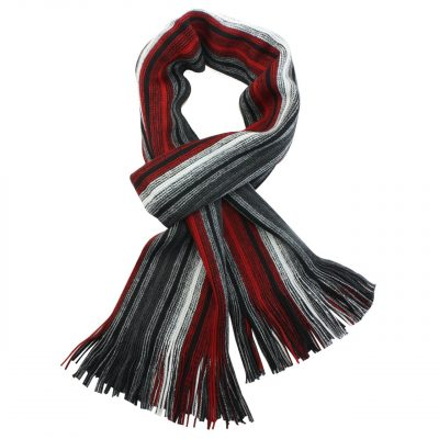 Dahlia Men's 100% Fine Acrylic Colorful Striped Knit Long Scarf