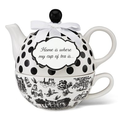 pavilion gift you and me tea for one teapot set by jessie steele black - Christmas Gift Ideas For Parents Who Have Everything
