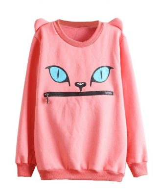 Zip Mouth Cat Sweater