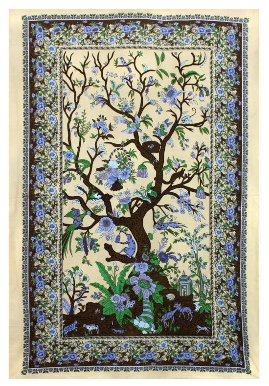 Tree Of Life Indian Tapestry