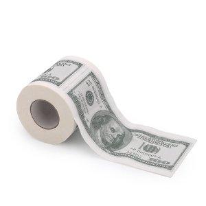 $100 Bill Toilet Paper Roll