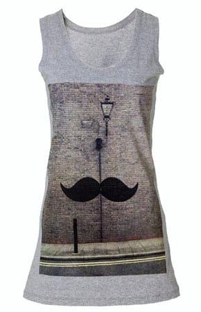 Eron Vintage London Collection Mustache Ladies Tank Top Vest