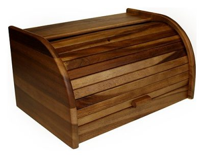 Mountain Woods Large Acacia Roll Top Bread Box