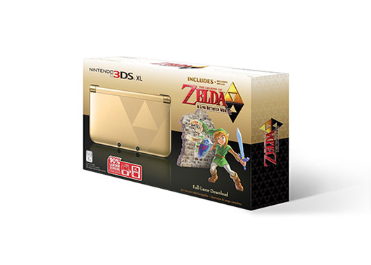 Nintendo 3DS XL Gold - Limited Edition Bundle with The Legend of Zelda A Link Between Worlds