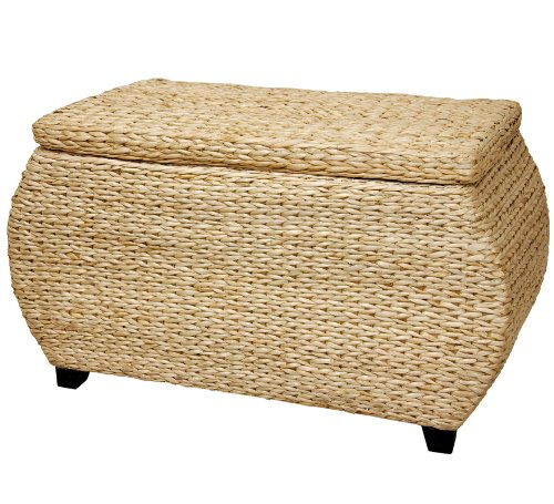 Oriental Furniture 31-Inch Rush Grass Storage Chest