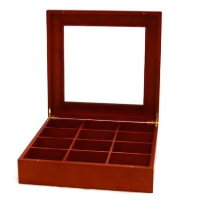 Tie Box Storage Handcrafted 12 Compartment