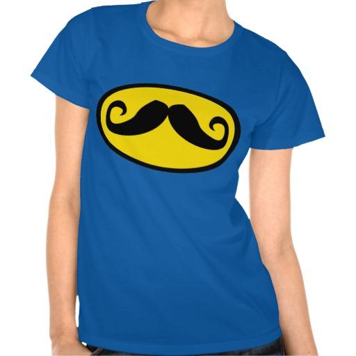 Bat Mustache T Shirt for Women