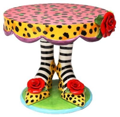 Appletree 10-Inch Sugar High Social by Babs Ceramic Cake Stand