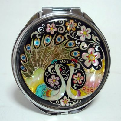 Compact Cosmetic Makeup Hand Mirror