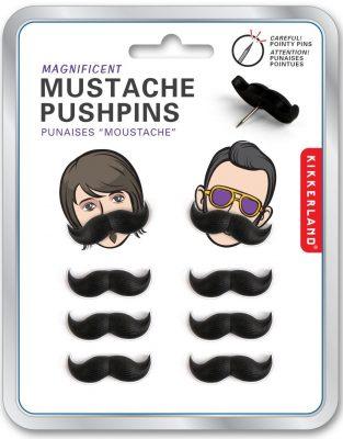 Kikkerland Mustache Push Pins
