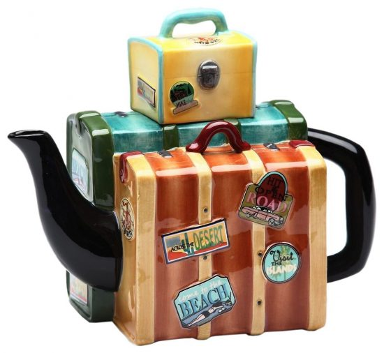 Appletree Design Road Trip Luggage Teapot