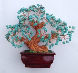 Natural Turquoise Gem Stone Money Tree Feng Shui