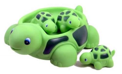 Turtle Family Bath Sets(set of 4) - Floating Bath Tub Toy (1st Birthday Gift Ideas For Boys and Girls)