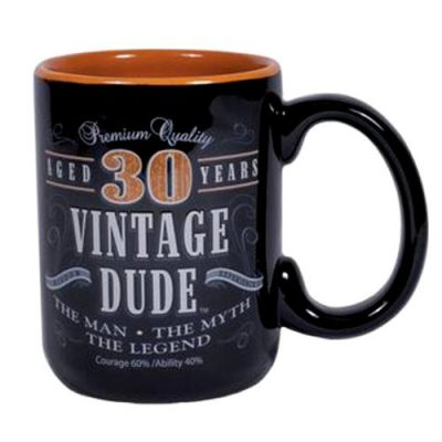 30th Birthday Vintage Dude Coffee Mug - 30th Birthday Gifts for Him