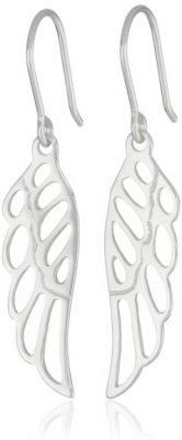 Sterling Silver Angel Wing Drop Earrings