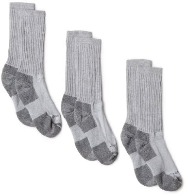 Carhartt Men's Cotton 3 Pack Crew Work Socks - Valentines Day Gift Ideas for Husband