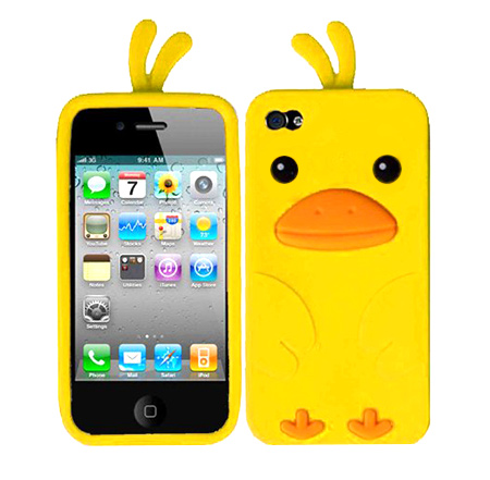 Funny Yellow Duck Case for iPhone Gen 4 - Funny Valentines Day Gifts