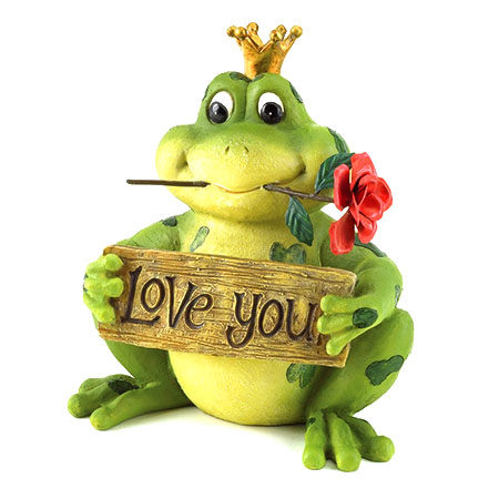 Love You Frog Prince Valentine's Day Figurine - Funny Valentines Day Gifts