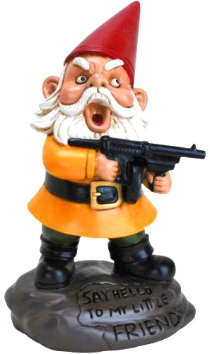 Scarface Garden Gnome - Funny Valentines Day Gifts