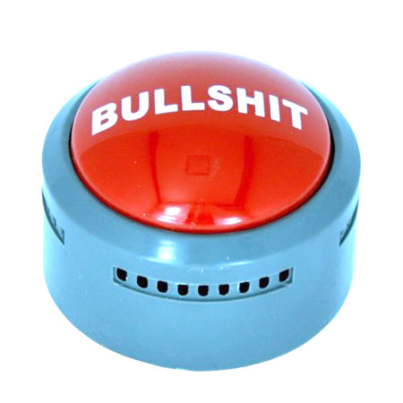 The Official BS Button - Funny Valentines Day Gifts