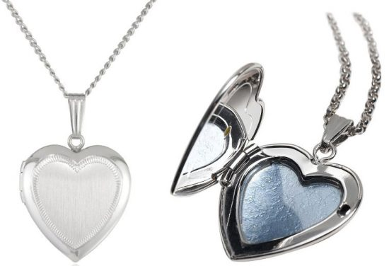 Engravable Heart Necklace Handcrafted with Satin-Finish Sterling Silver
