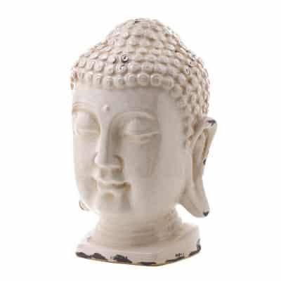 Zen White Buddha Head Decoration