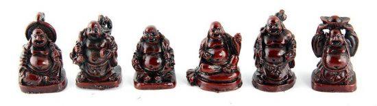 Laughing Buddha Figurine Set of 6