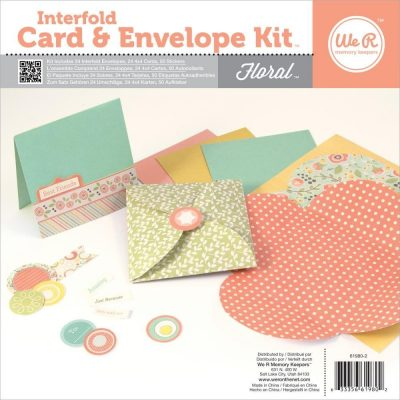 Interfold Card and Envelope Kit – Floral