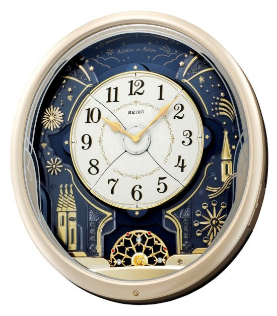 Seiko Amazing Melodies in Motion Wall Clock - 30th Birthday Gifts for Men