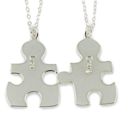 Forever Best Friends BFF Puzzle Pendant