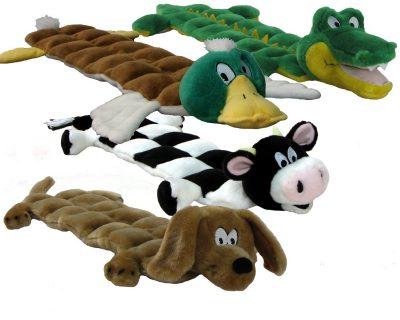 Kyjen Plush Puppies Squeaker Mat Long Body Dog Toy
