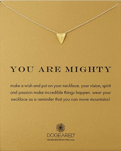 You Are Mighty Inspirational Necklace